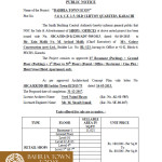 Bahria Town Icon Karachi – Approved Building Plan by Sindh Building Control Authority (SBCA)