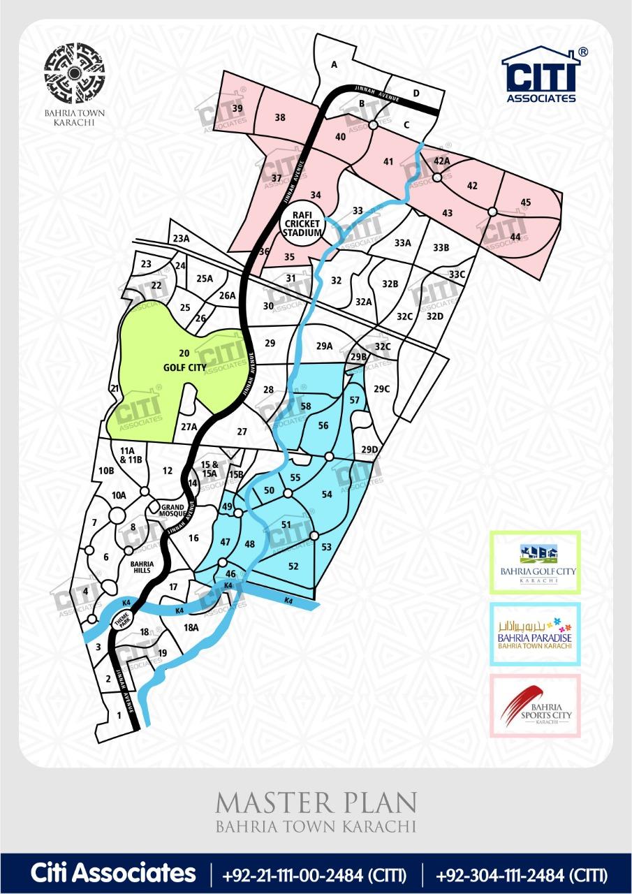 Bahria Town Karachi – Full Updated Master Plan 2018