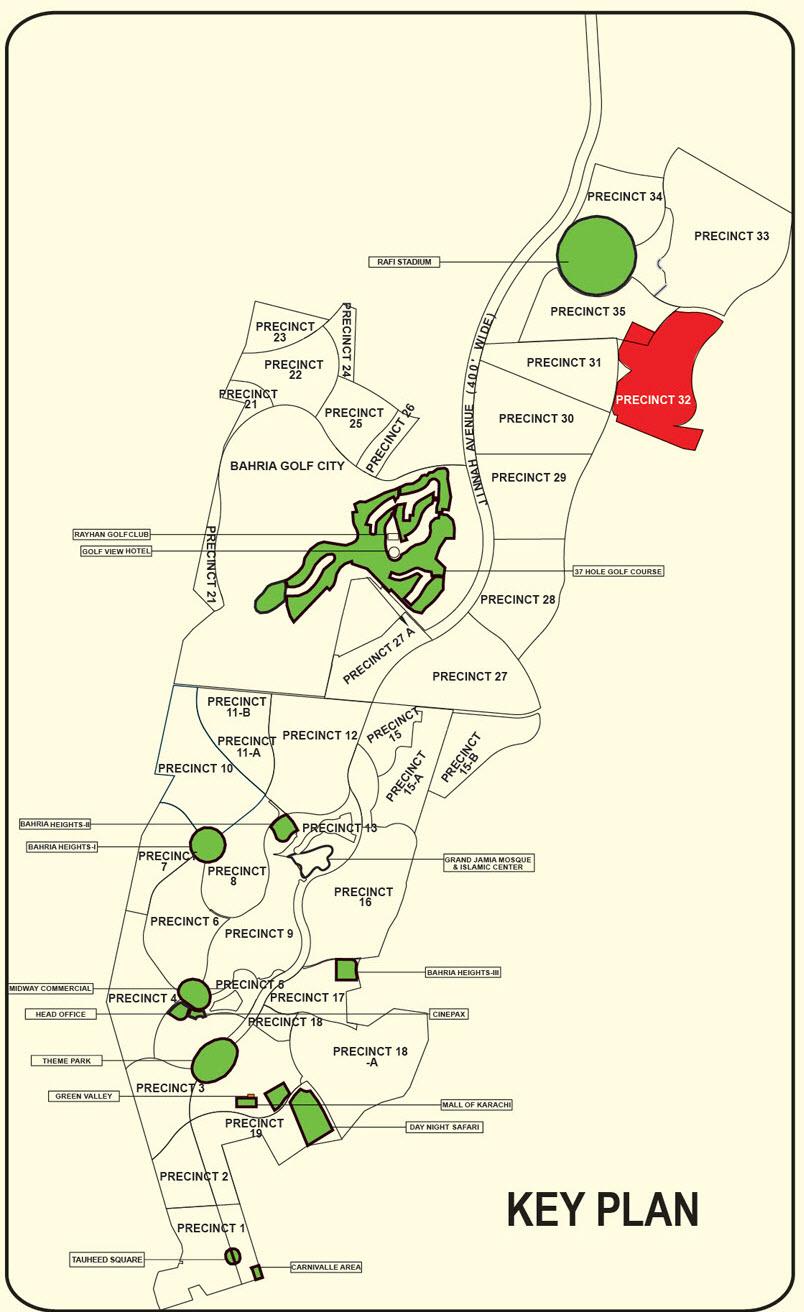 Bahria Town Karachi Updated High Resolution Master Plan 2017
