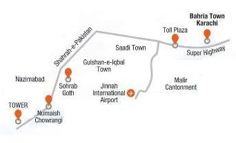 Bahria Town Karachi (BTK) - Metro Bus Route Map