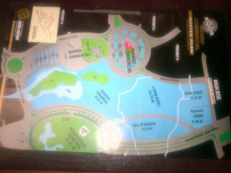 Bahria Town Karachi – Master Plan of Midway Commercial