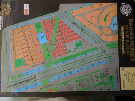 Bahria Town Karachi - Master Plan of Bahria Homes (Quaid Block) Map (2)