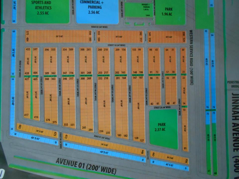Bahria Town Karachi – Master Plan of Bahria Homes (Quaid Block) Map (5)