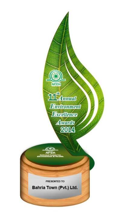 Bahria Town Wins 11th Annual Environment Excellence Award 2014