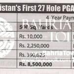 Bahria Golf City Karachi - Payment Schedule