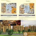 Floor Plan of 2 Bedroom Bahria Heights – Bahria Town Karachi