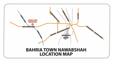 Bahria Town Nawabshah - Location Map