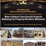 Bahria Town Karachi Balloting Results 2015