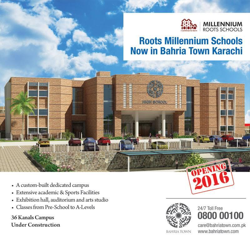 Roots Millennium Schools Opening in Bahria Town Karachi