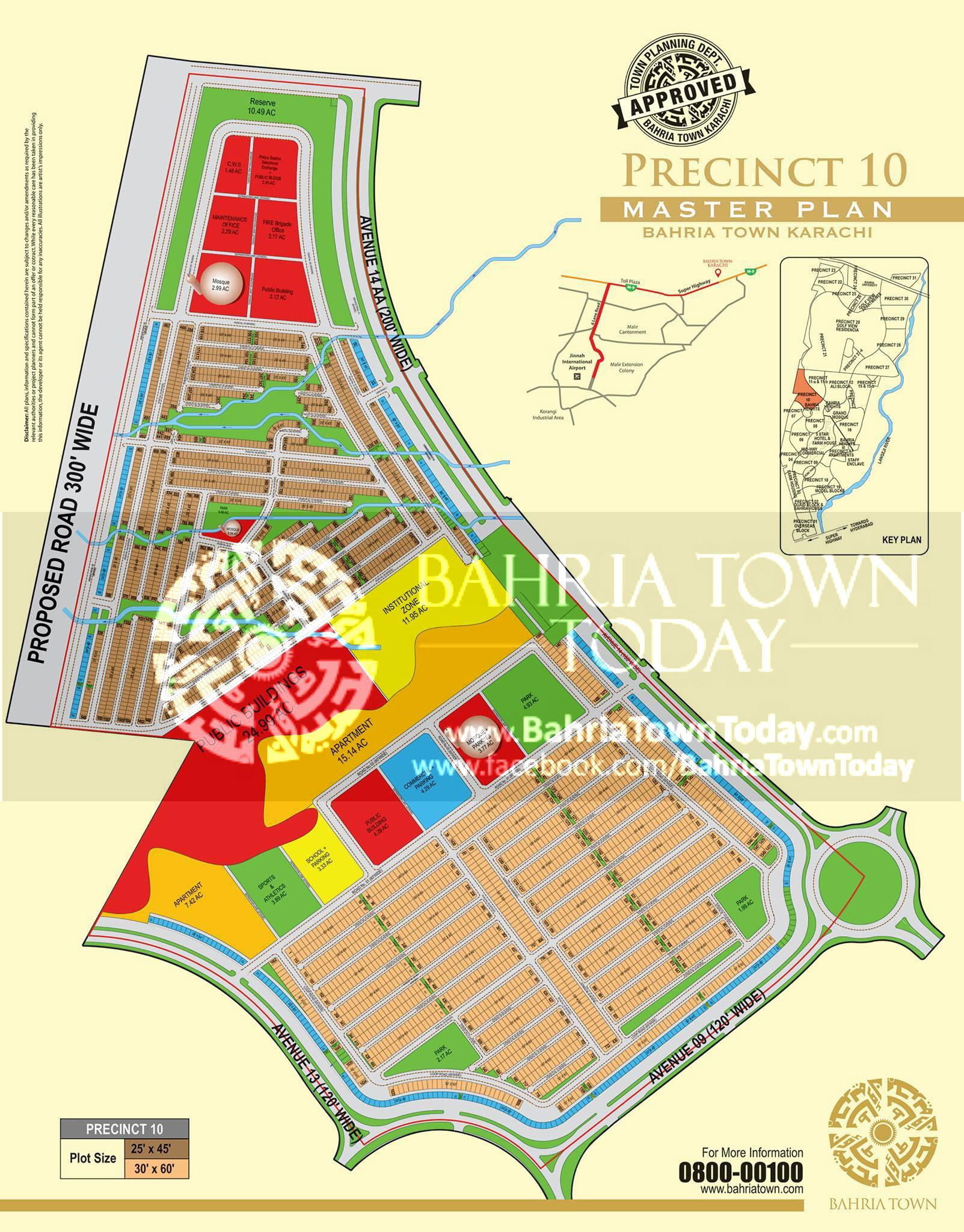 Bahria Town Karachi – Precinct 10 High Resolution Map