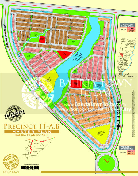 Bahria Town Karachi - Precinct 11 High Resolution Map
