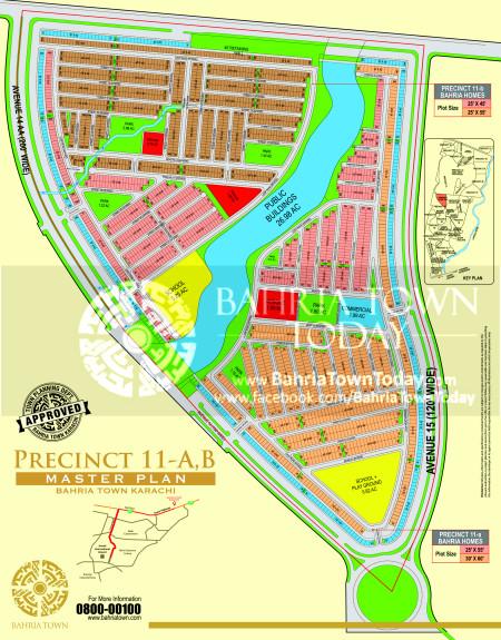 Bahria Town Karachi - Precinct 11 High Resolution Map