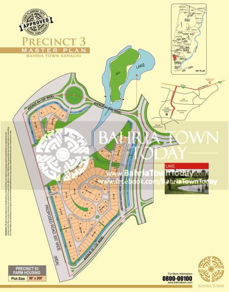 Bahria Town Karachi - Precinct 03 High Resolution Map