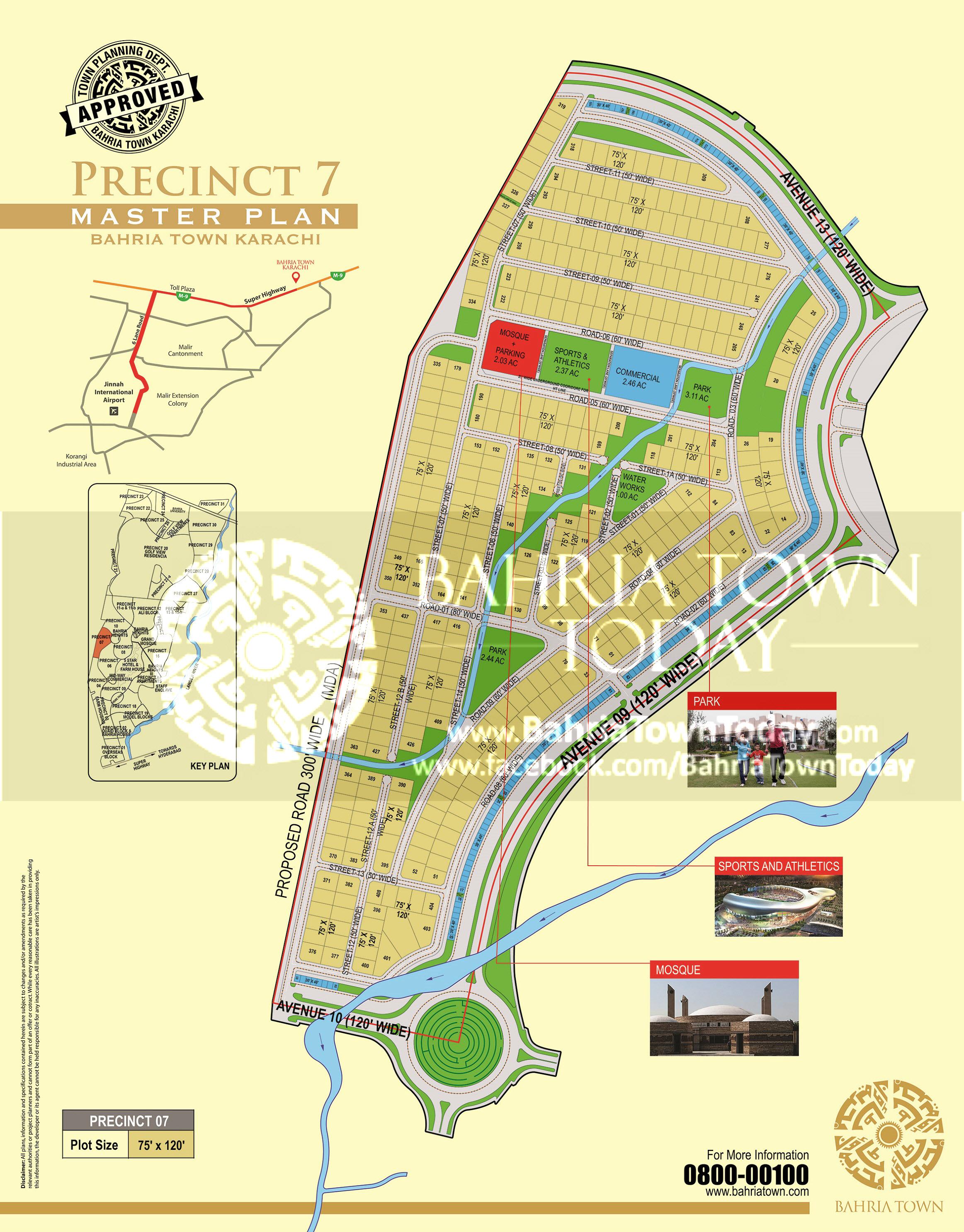 Bahria Town Karachi – Precinct 07 High Resolution Map