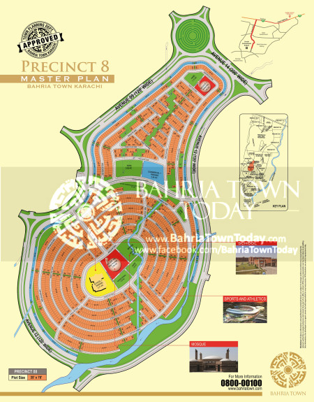 Bahria Town Karachi - Precinct 08 High Resolution Map