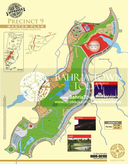 Bahria Town Karachi - Precinct 09 High Resolution Map