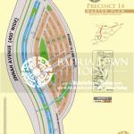 Bahria Town Karachi – Precinct 14 Map