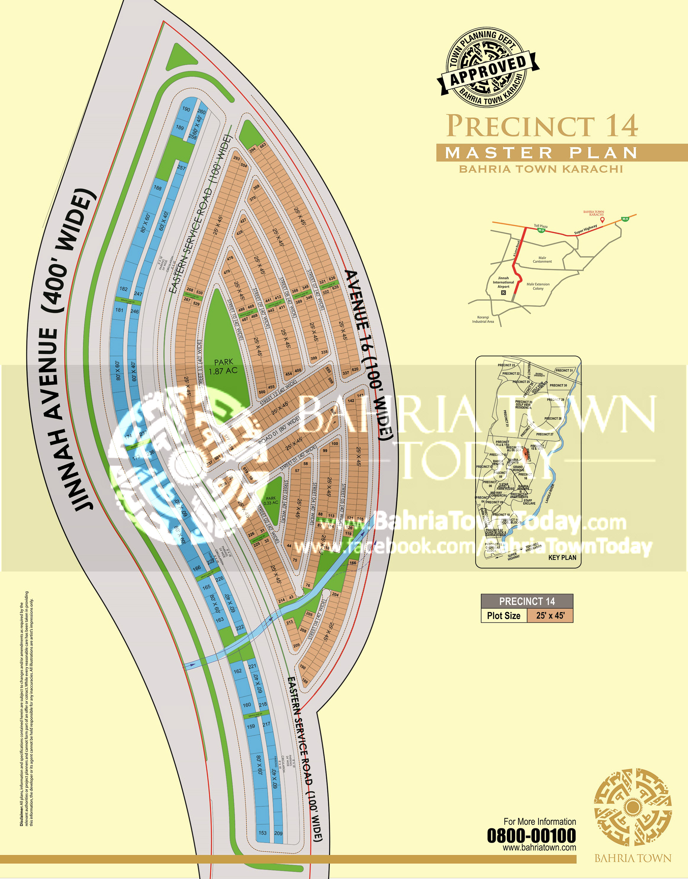 Bahria Town Karachi – Precinct 14 High Resolution Map