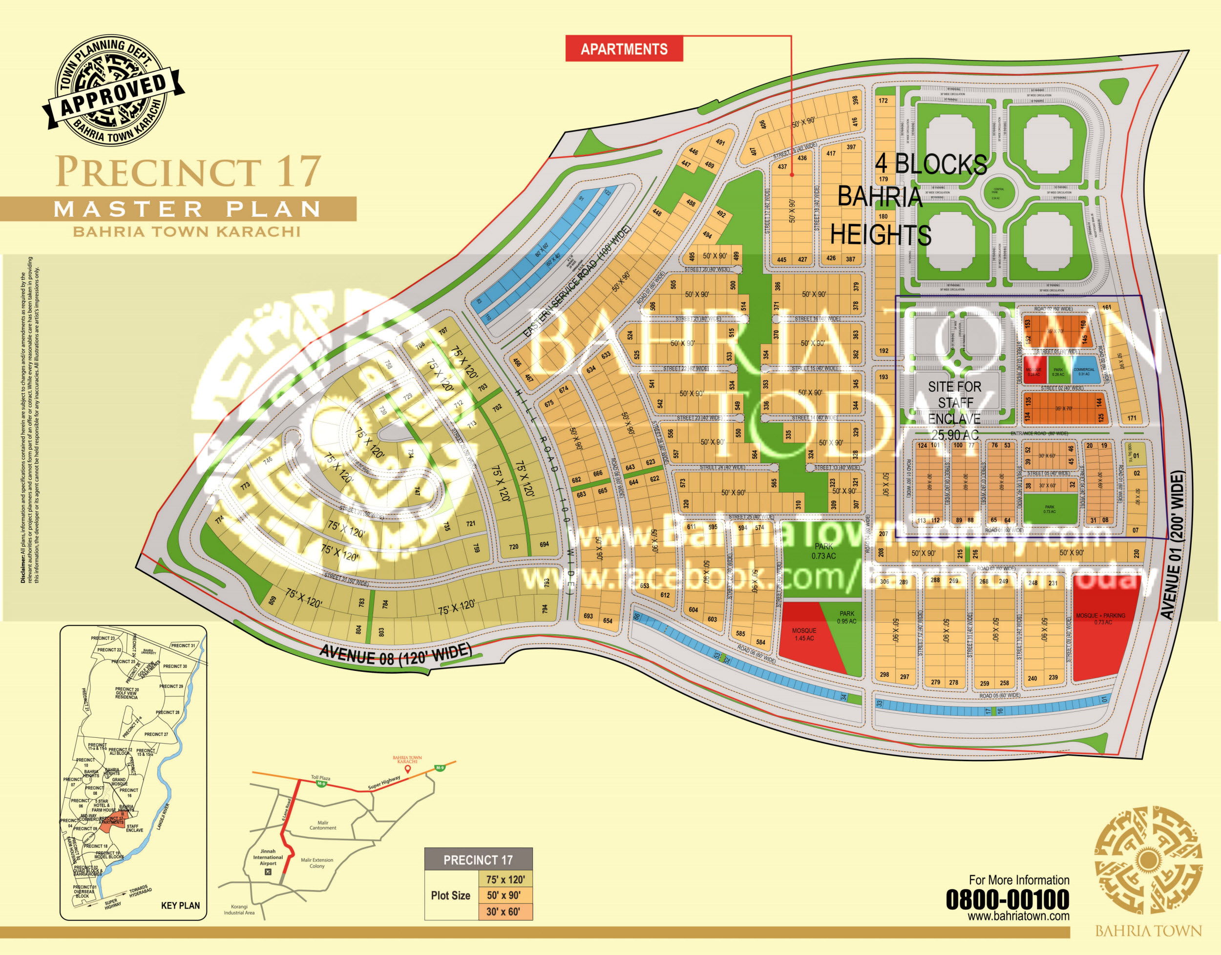 Bahria Town Karachi – Precinct 17 High Resolution Map