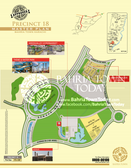 Bahria Town Karachi - Precinct 18 High Resolution Map