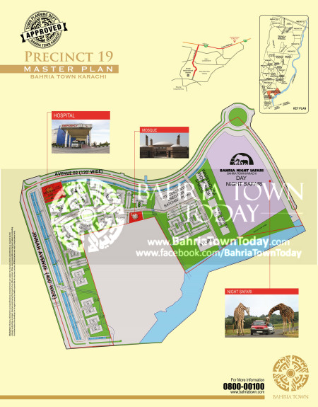 Bahria Town Karachi - Precinct 19 High Resolution Map