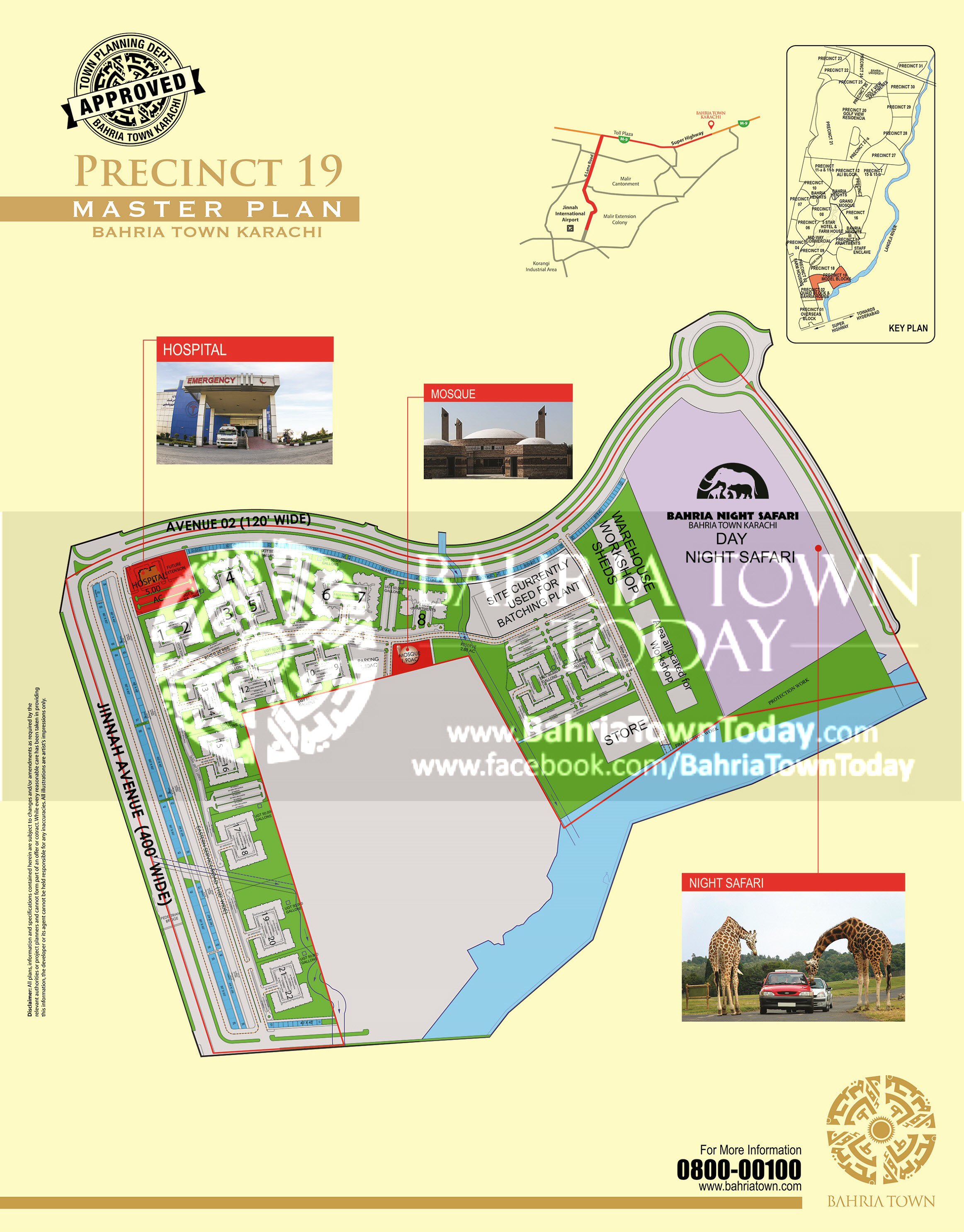 Bahria Town Karachi – Precinct 19 High Resolution Map