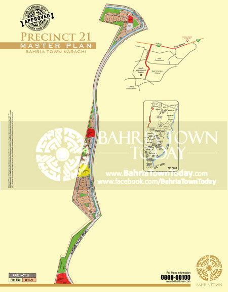Bahria Town Karachi - Precinct 21 High Resolution Map
