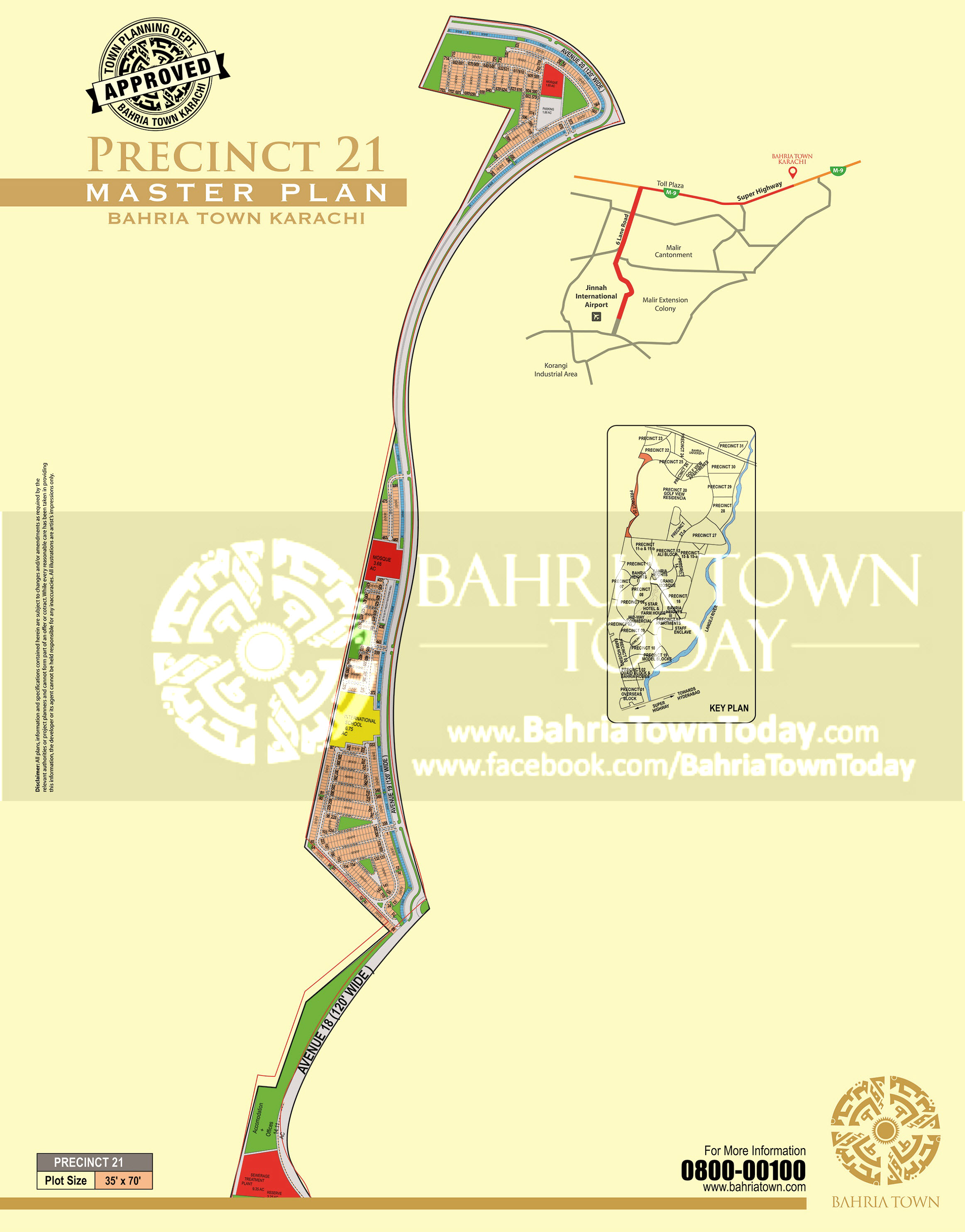 Bahria Town Karachi – Precinct 21 High Resolution Map