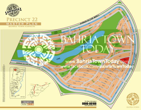 Bahria Town Karachi - Precinct 22 High Resolution Map