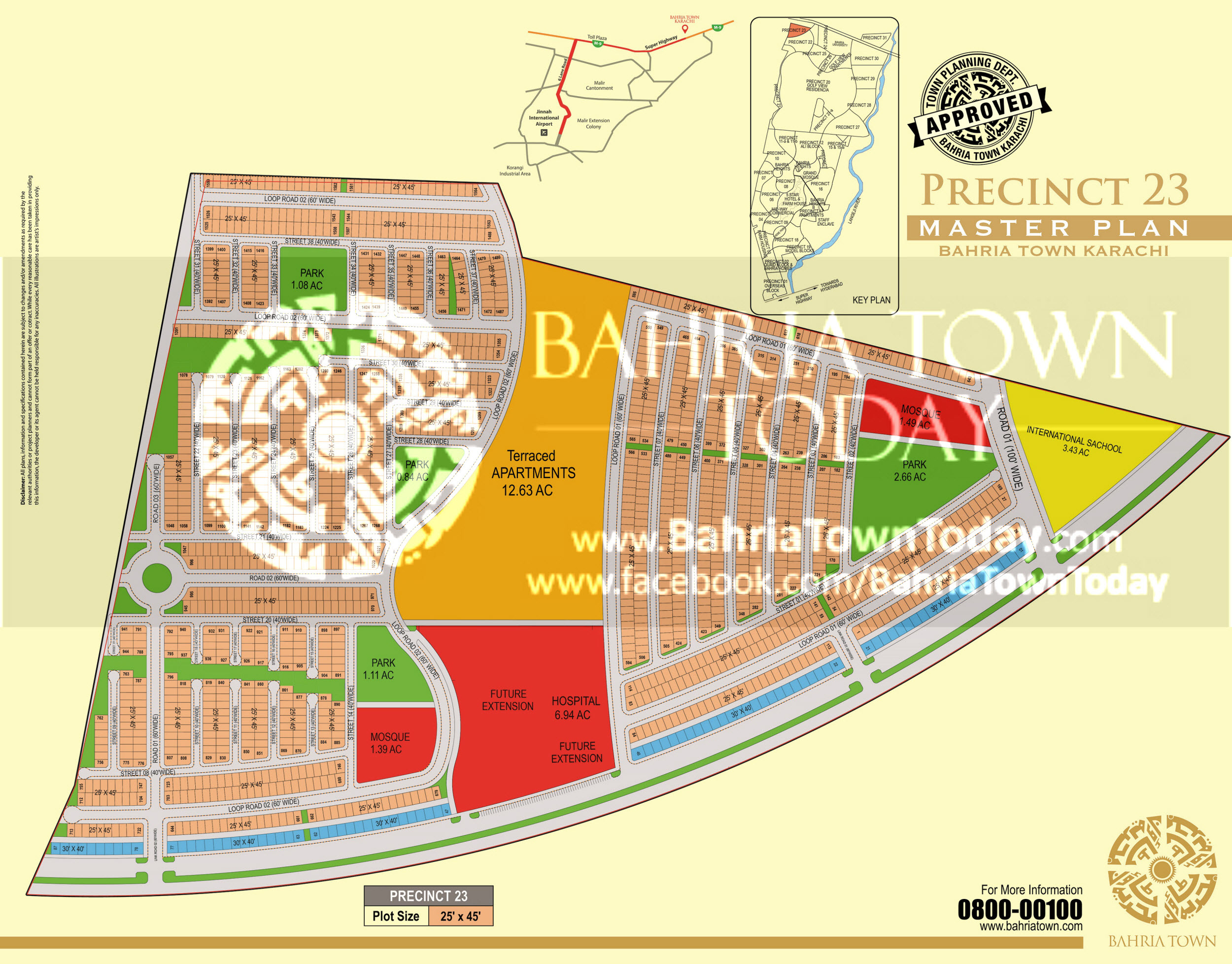 Bahria Town Karachi – Precinct 23 High Resolution Map