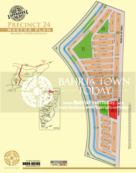 Bahria Town Karachi - Precinct 24 High Resolution Map