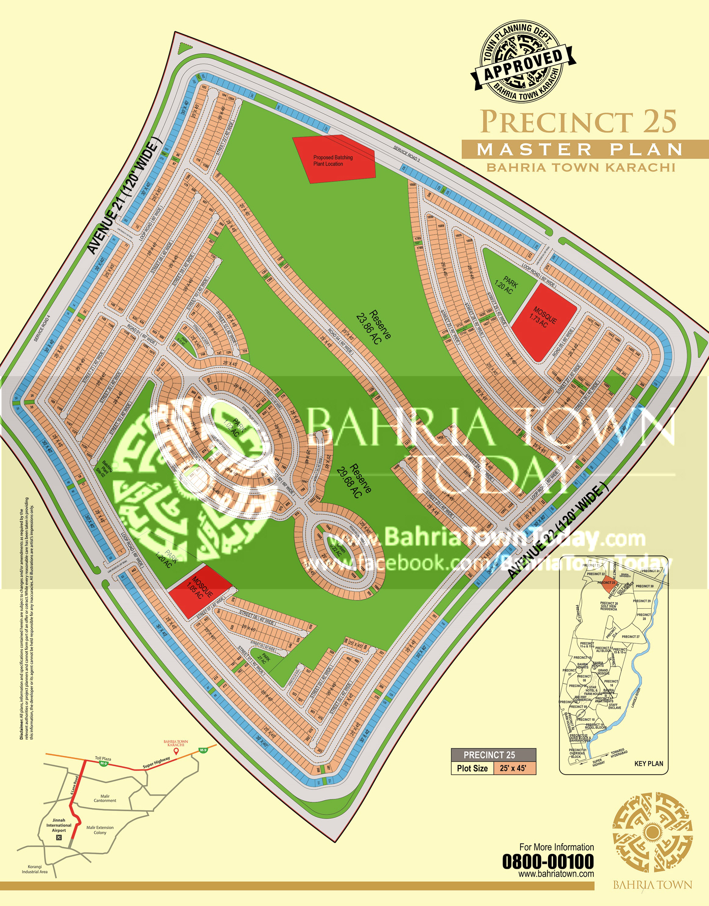 Bahria Town Karachi – Precinct 25 High Resolution Map