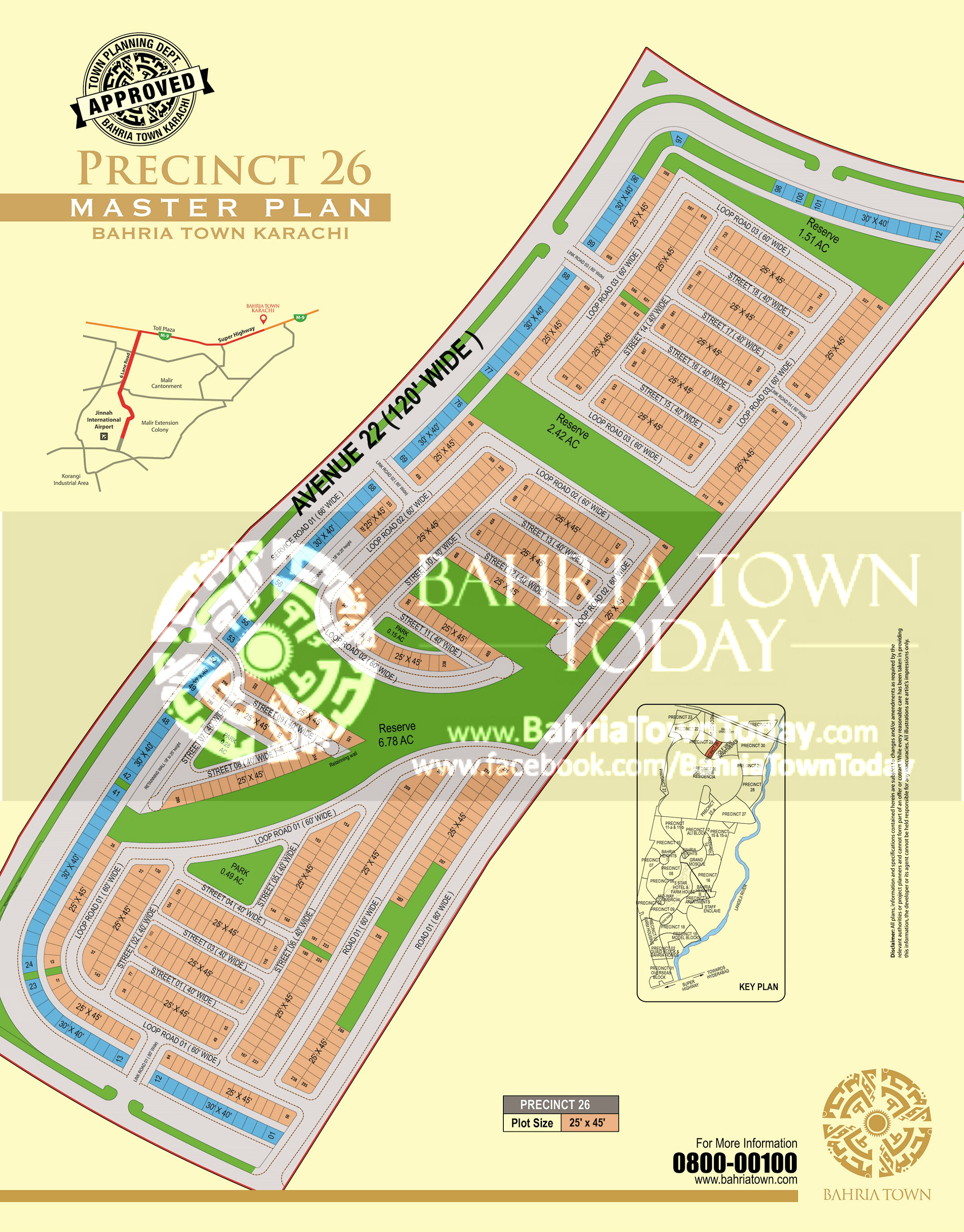 Bahria Town Karachi – Precinct 26 High Resolution Map