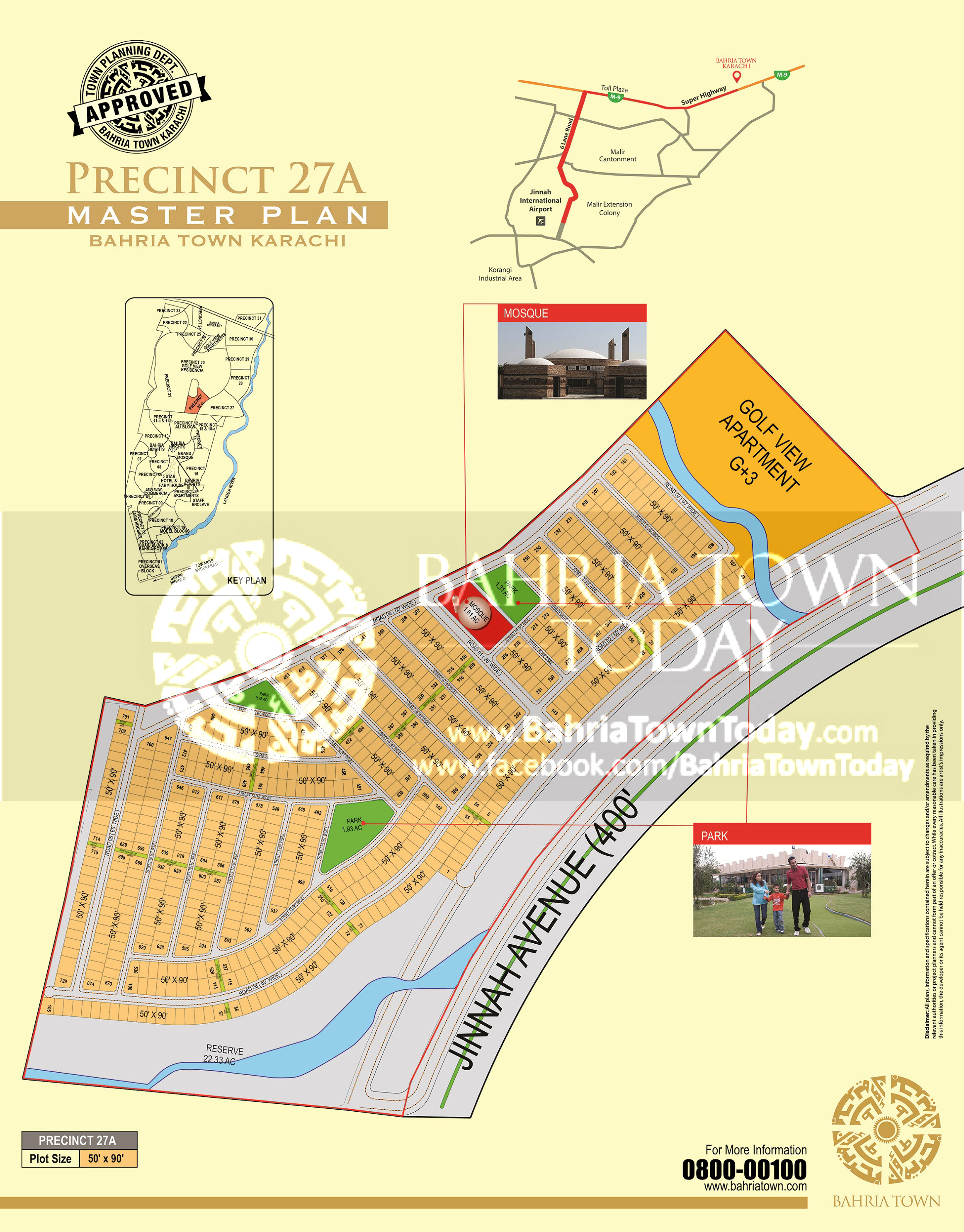 Bahria Town Karachi – Precinct 27-A High Resolution Map