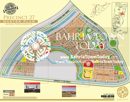 Bahria Town Karachi - Precinct 27 High Resolution Map