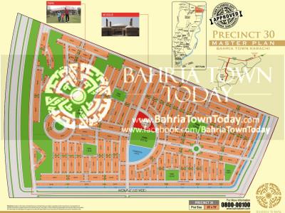 Bahria Town Karachi – Precinct 30 Map