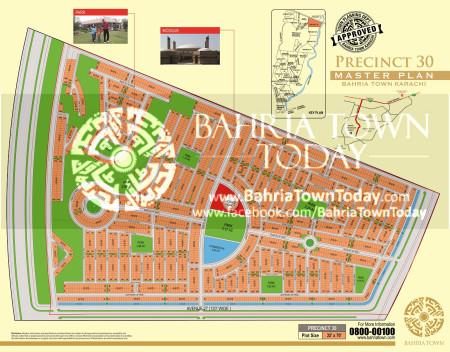 Bahria Town Karachi - Precinct 30 High Resolution Map
