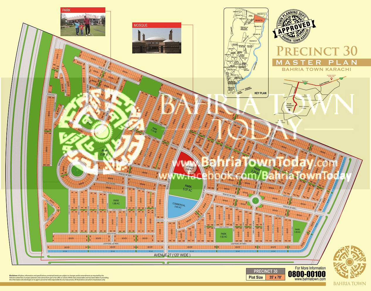 Bahria Town Karachi – Precinct 30 High Resolution Map