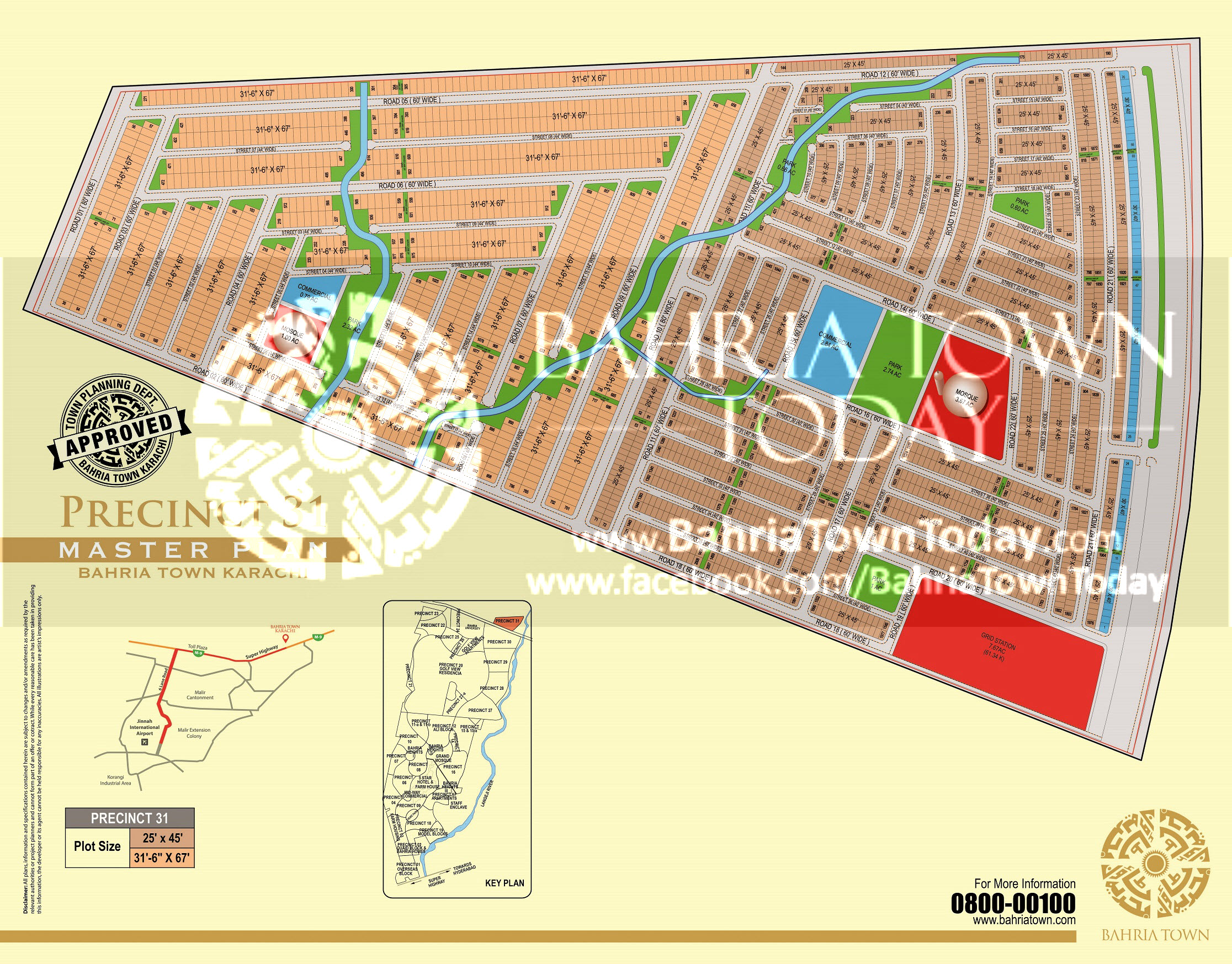 Bahria Town Karachi – Precinct 31 High Resolution Map