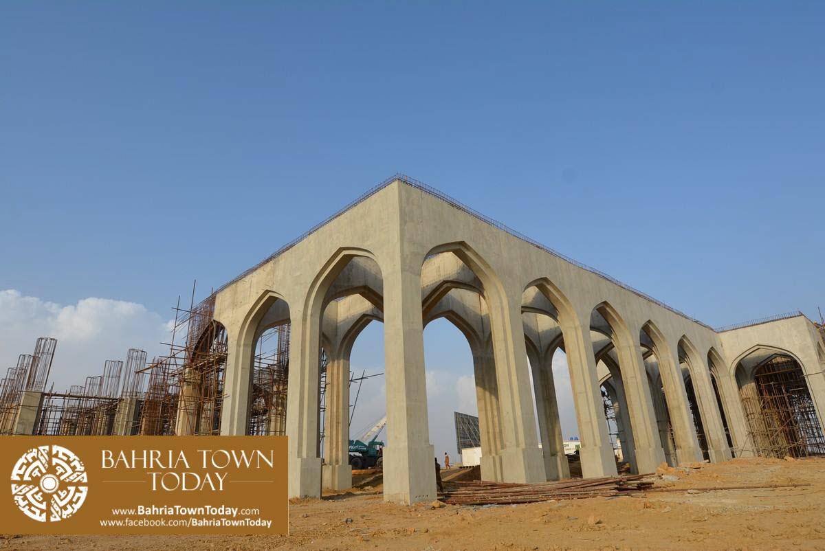 Site Work Progress at Grand Jamia Masjid – Bahria Town Karachi (16)