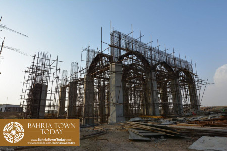 Site Work Progress at Grand Jamia Masjid - Bahria Town Karachi (2)