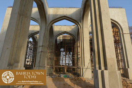 Site Work Progress at Grand Jamia Masjid - Bahria Town Karachi (4)