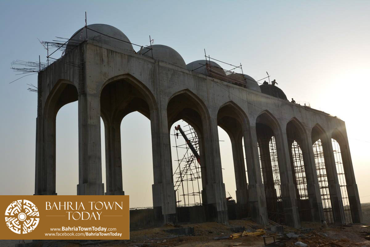Site Work Progress at Grand Jamia Masjid – Bahria Town Karachi (5)