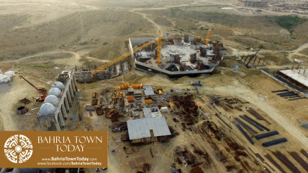Site Work Progress at Grand Jamia Masjid - Bahria Town Karachi (7)