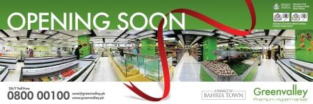 GreenValley - Pakistan's Premium Hypermarket Opening Soon in Bahria Town Karachi