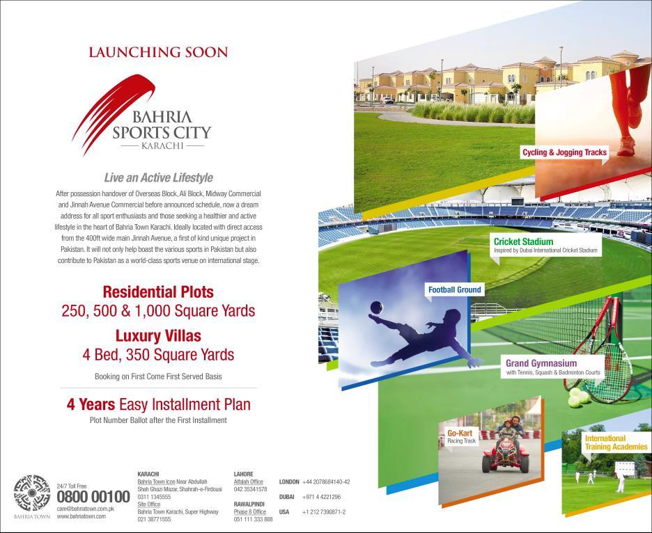 Bahria Sports City Karachi Launching Soon (2)