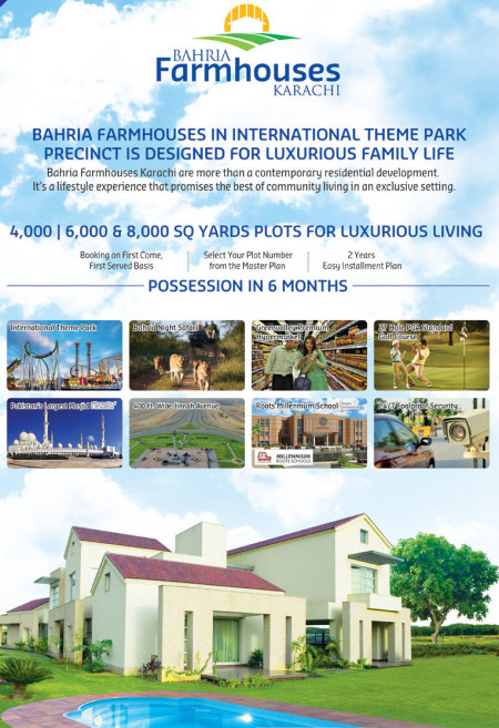 Bahria Farmhouses Karachi Master Plan Map