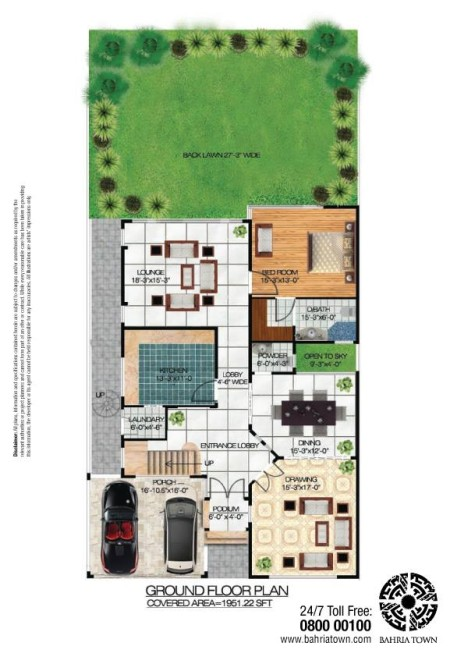 4 Bedroom (350 Square Yards) Luxury Villas in Bahria Sports City Karachi (1)