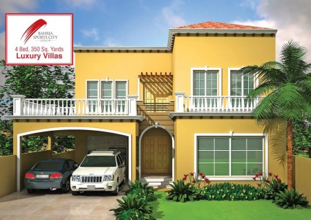 4 Bedroom (350 Square Yards) Luxury Villas in Bahria Sports City Karachi (2)