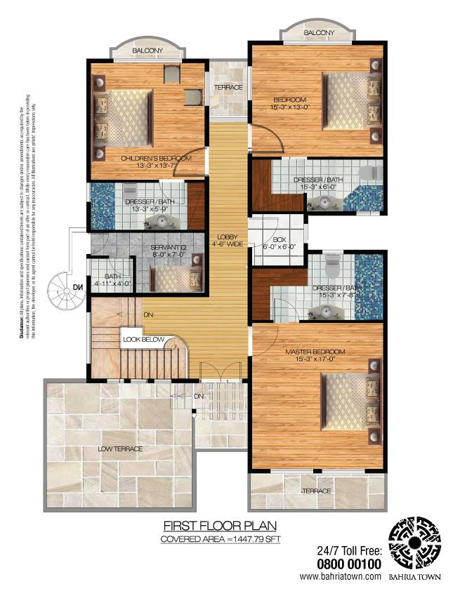Yard house town square floor plan of 125 square yards for Windsong project floor plan